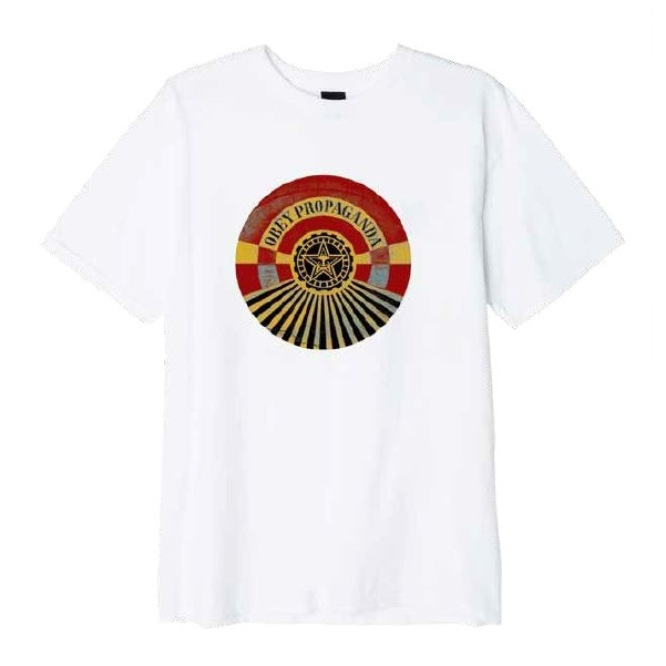 오베이 티셔츠 OBEY TUNNEL VISION 163081992 WHITE