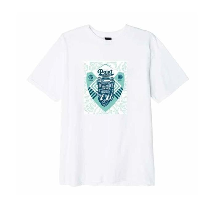 오베이 티셔츠 COVER IT ALL 163082008 WHITE