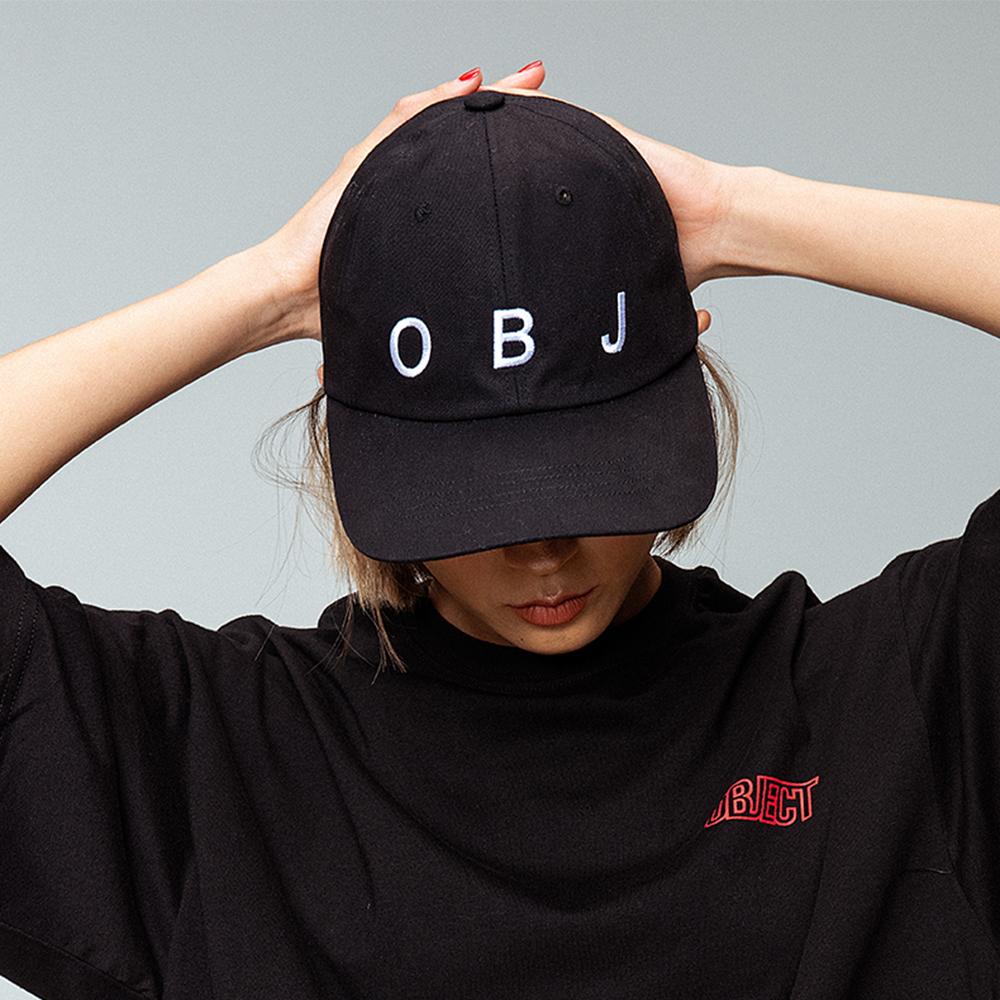 OBJ LOGO CAP (BLACK)