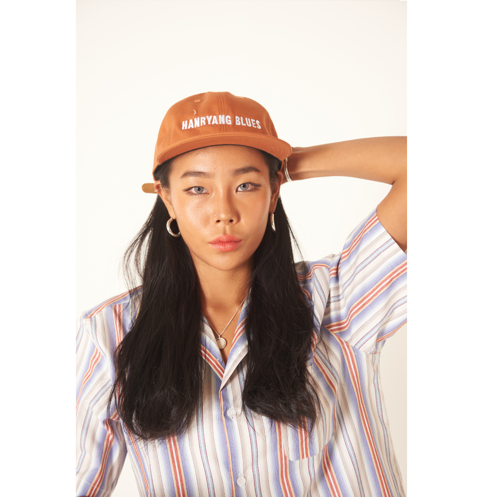 틀영(TLEYOUNG) 19ss 베이직 로고 캠프 캡 (Orange)