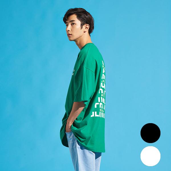 [올앤드]남성 등판 아트웍 박스 티셔츠_LMTRI2111-804