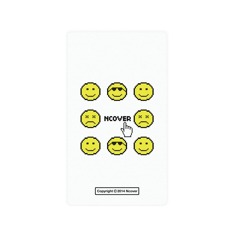 Smile face battery-white