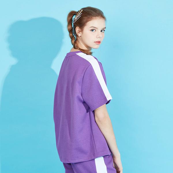 아키클래식 아비아레 라인 반팔 티셔츠 퍼플