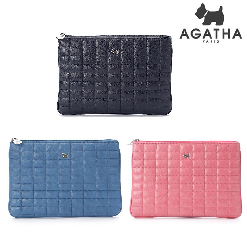 아가타 에스더 퀼팅 클러치백AGT151B-01