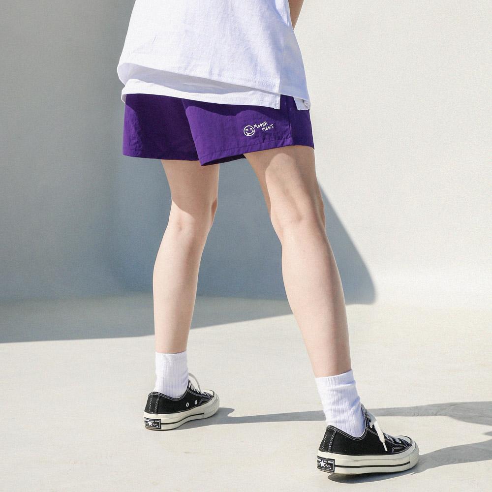 [UNISEX] 유틸리티 하프팬츠 (퍼플)