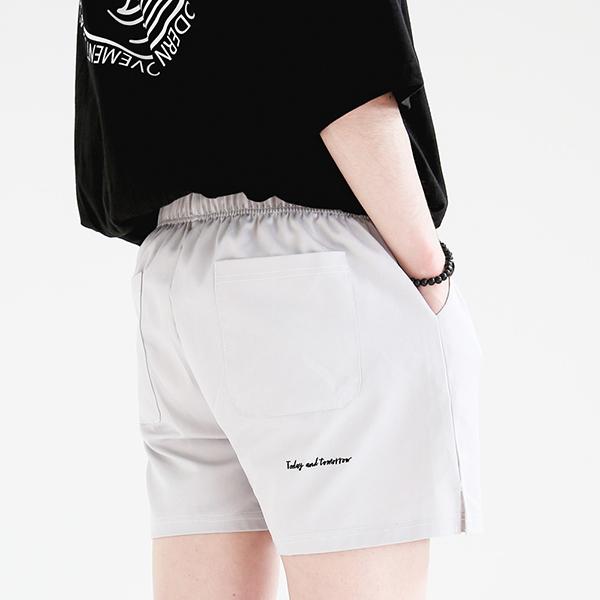 [단독할인][UNISEX] 쇼터 코튼 하프팬츠 (라이트그레이)