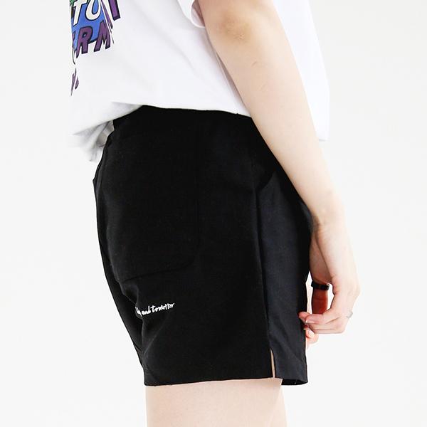 [단독할인][UNISEX] 쇼터 코튼 하프팬츠 (블랙)