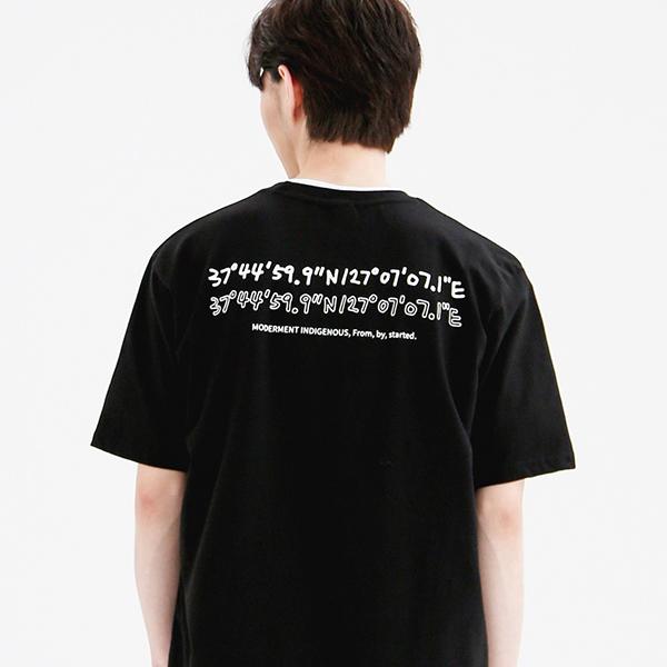 [UNISEX]  시그니처 세미오버 반팔티 (블랙)