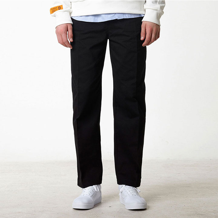 BASIC WIDE EASY PANTS BLACK