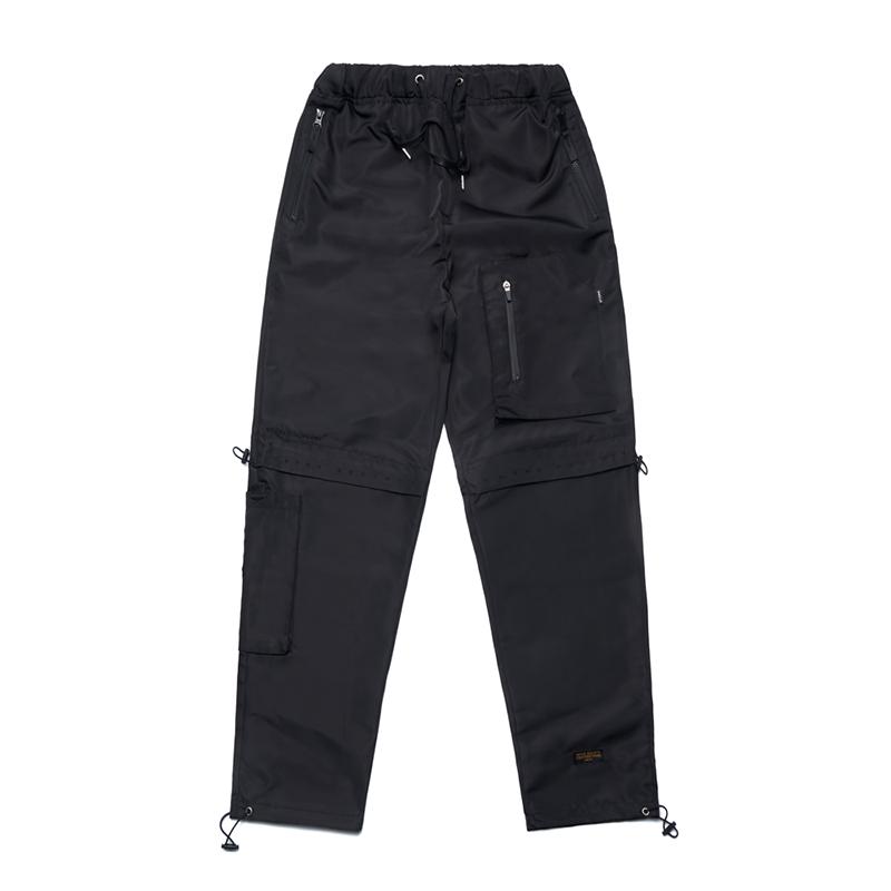 STIGMA X CALIPH ASH TECH STRING JOGGER PANTS BLACK