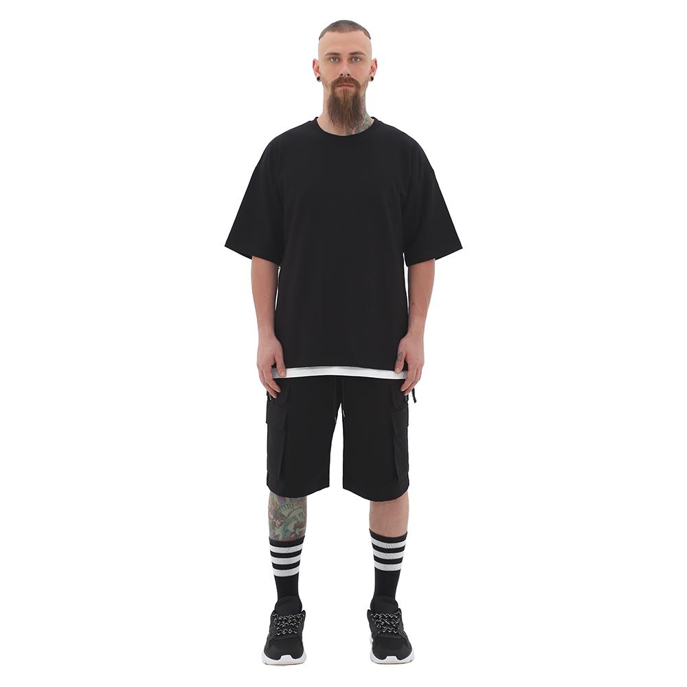 ROCKPSYCHO Ring Zipper Point Tee- Black / 락사이코 사이드 링지퍼 포인트 티셔츠-블랙