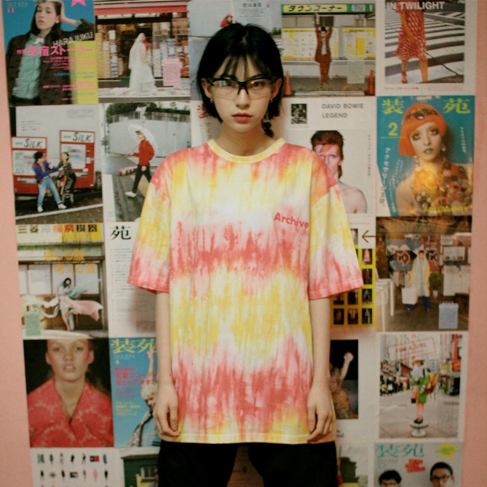 [단독할인]아카이브 타이다이 티셔츠