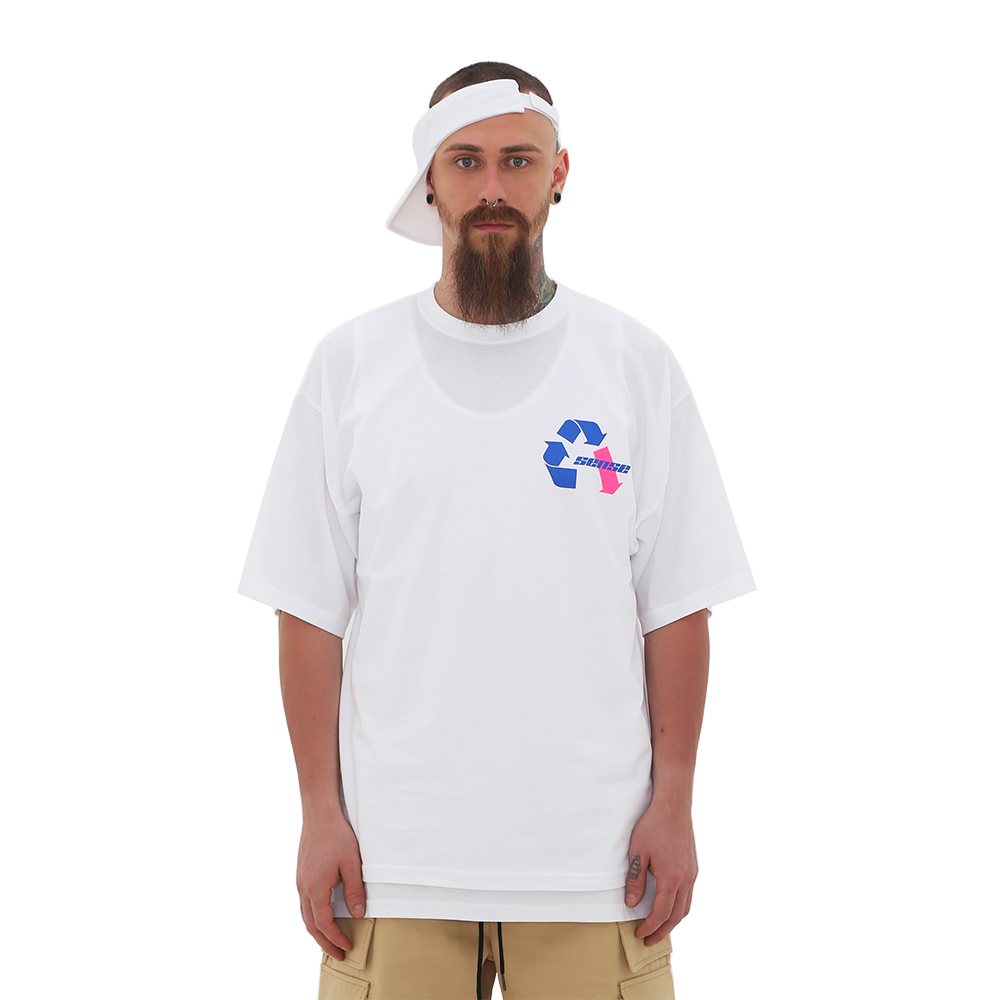 ROCKPSYCHO Sense Short-Sleeved Tee-White / 락사이코 센스 반팔티-화이트