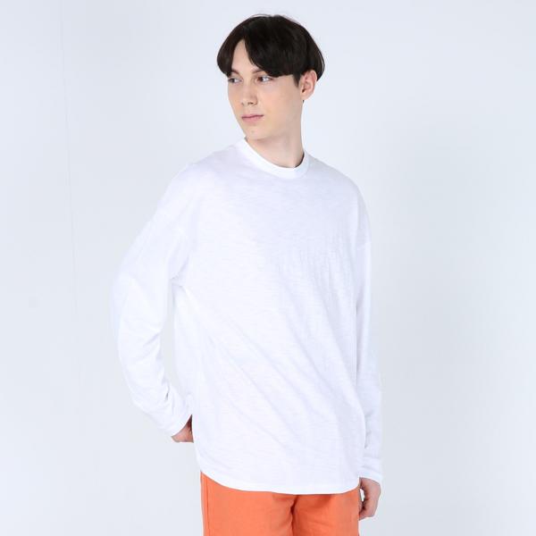 오버핏 슬라브 티셔츠(화이트)