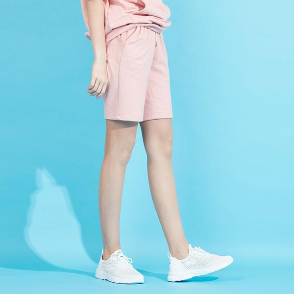 아이클래식 아이콘로고 반바지 베이비 핑크