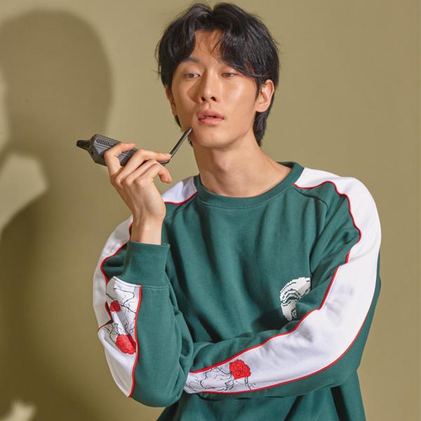 {C} (S/S) AsiHa Korea Newtro SweatShirts Green