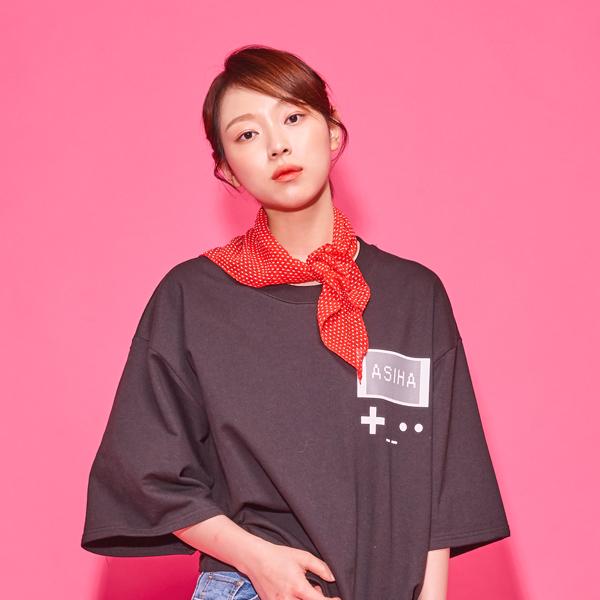 {C} (S/S) AsiHa Retro 8bit gamepack T-shirts Black