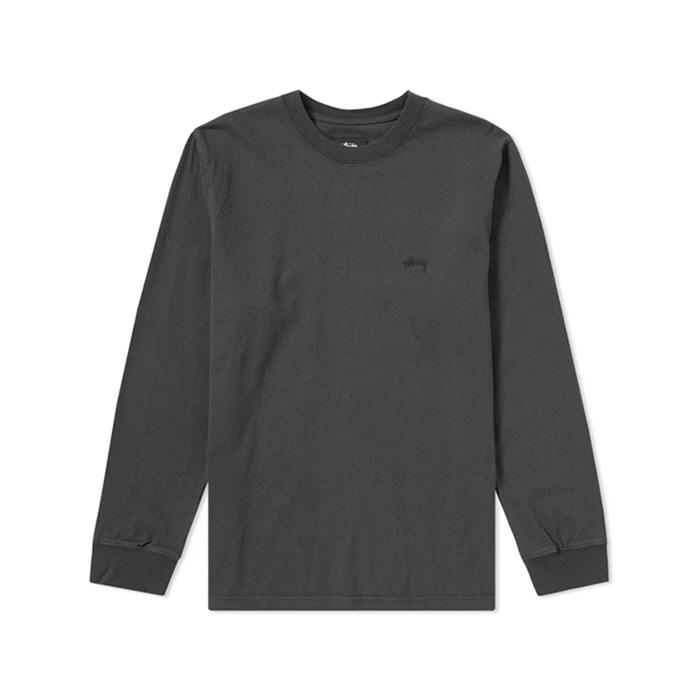 스투시스톡 롱슬리브 져지 긴팔티 블랙 / 1140070-BLACK