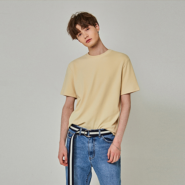 SOFT OVER HALF T-SHIRTS_LIGHT YELLOW