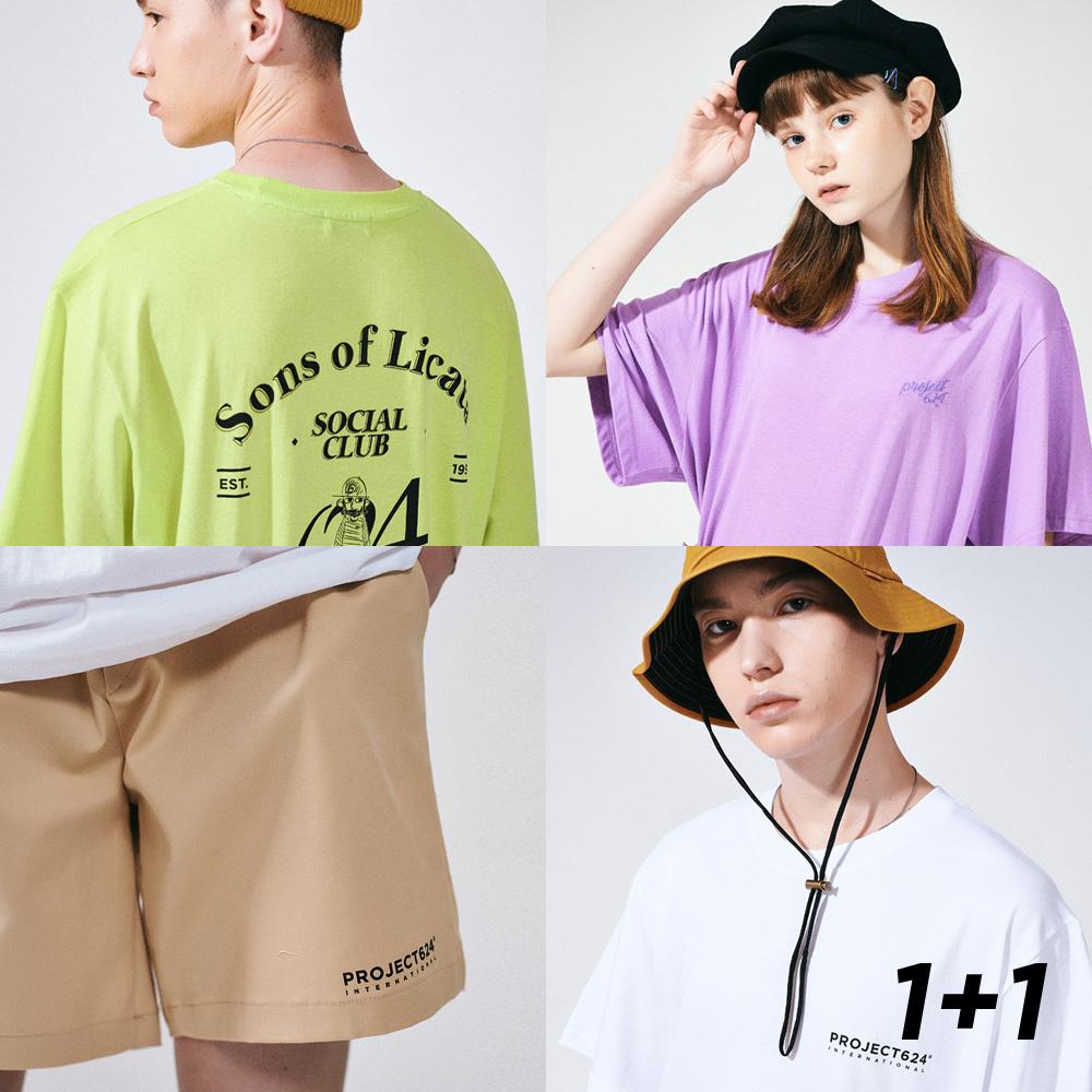 [1+1] (2SET) 19SS 티셔츠 숏팬츠 세트묶음 14COLOR