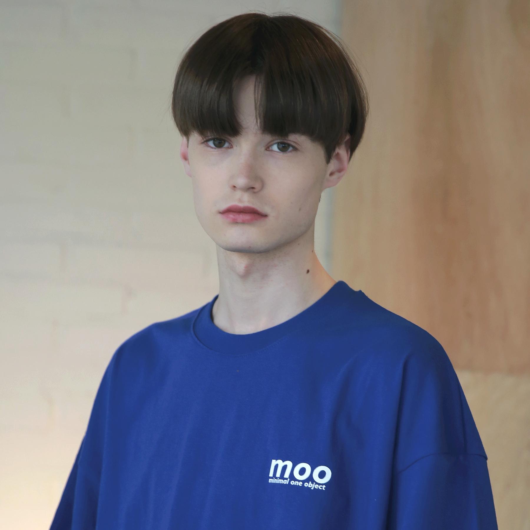 MOO 심벌라이즈 오버핏 반팔티 코발트
