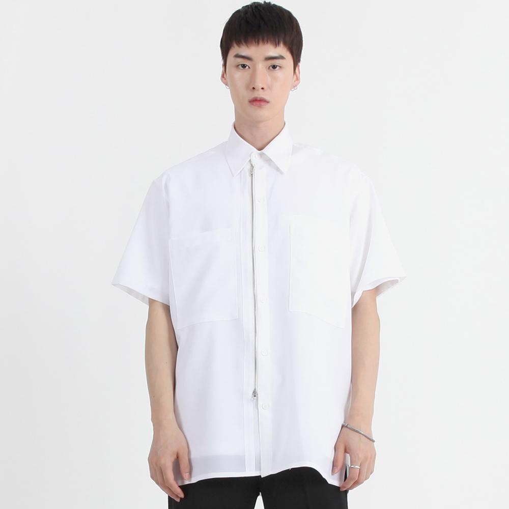 투웨이 지퍼 셔츠 흰색