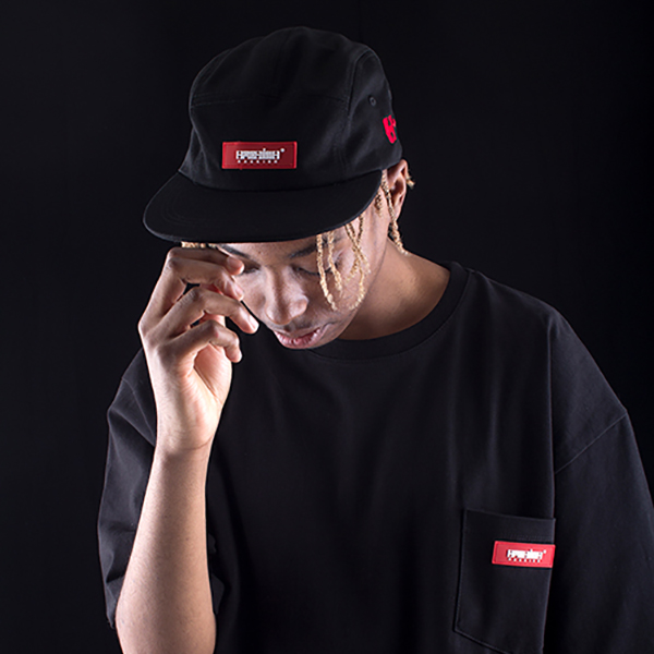 RED BOX rubber camp cap black spring/summer 2019
