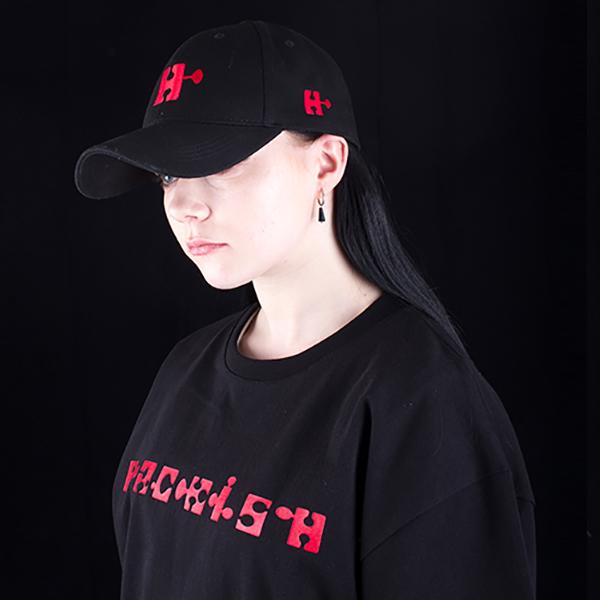 H emblem logo ball cap black spring/summer 2019