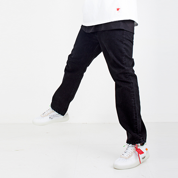Black slim straight pants spring/summer 2019