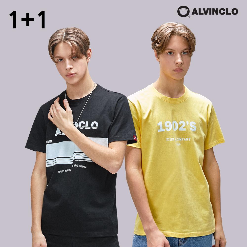 [1+1] [앨빈클로]  그래픽 반팔 티셔츠 패키지