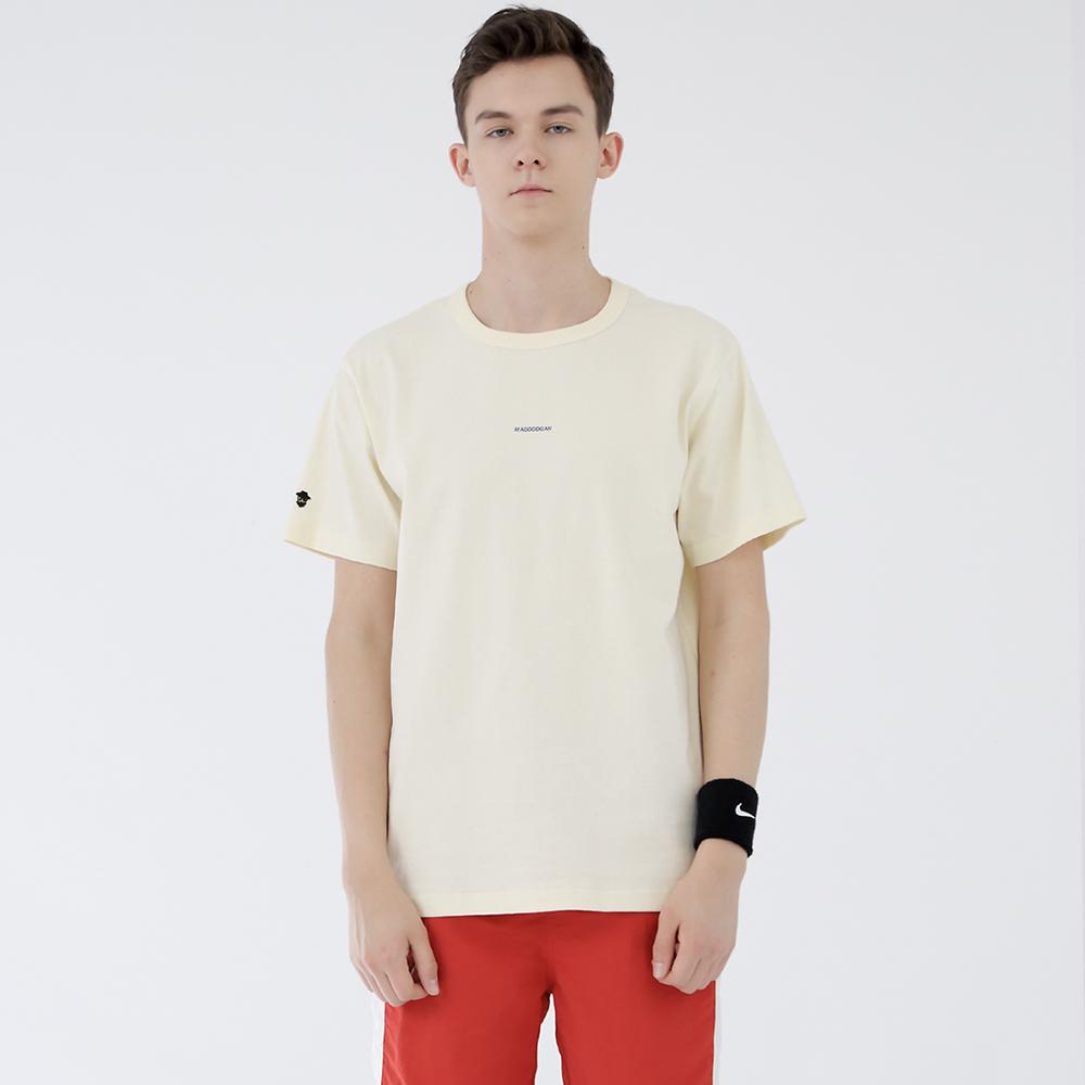 스탠시 3707-미니 로고(크림)_티셔츠