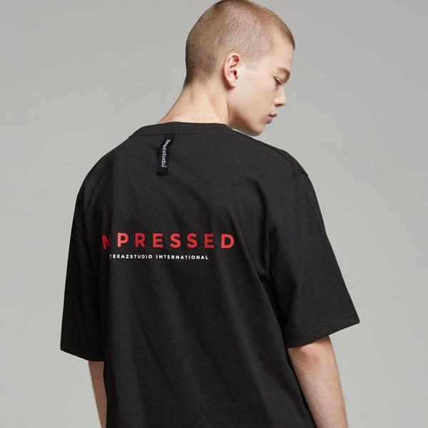 [UNISEX] 임프레스드 반팔티 (블랙)