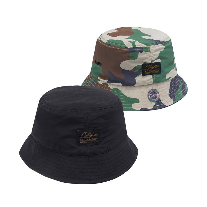 STIGMA STGM REVERSIBLE BUCKET CAP BLACK