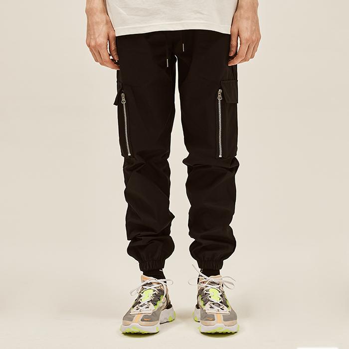[데드엔드] BLACK CARGO ZIPPER JOG PANTS V2