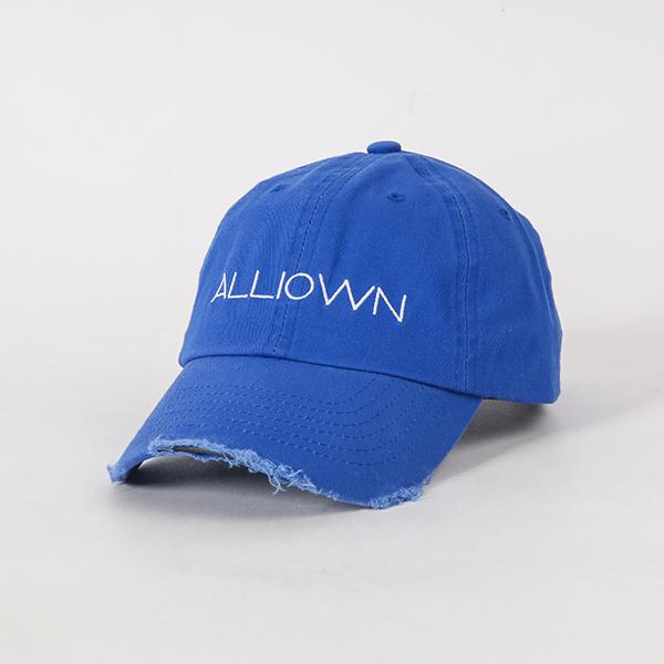 올라온 - Damage Ballcap - Blue