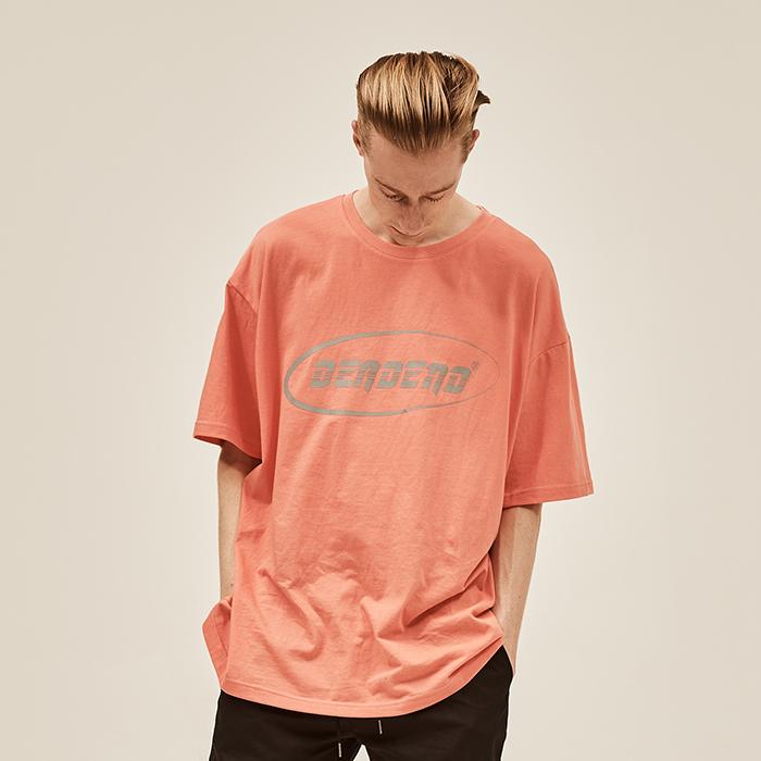 [데드엔드] CORAL PINK LOGO REFLECTIVE T-SHIRTS