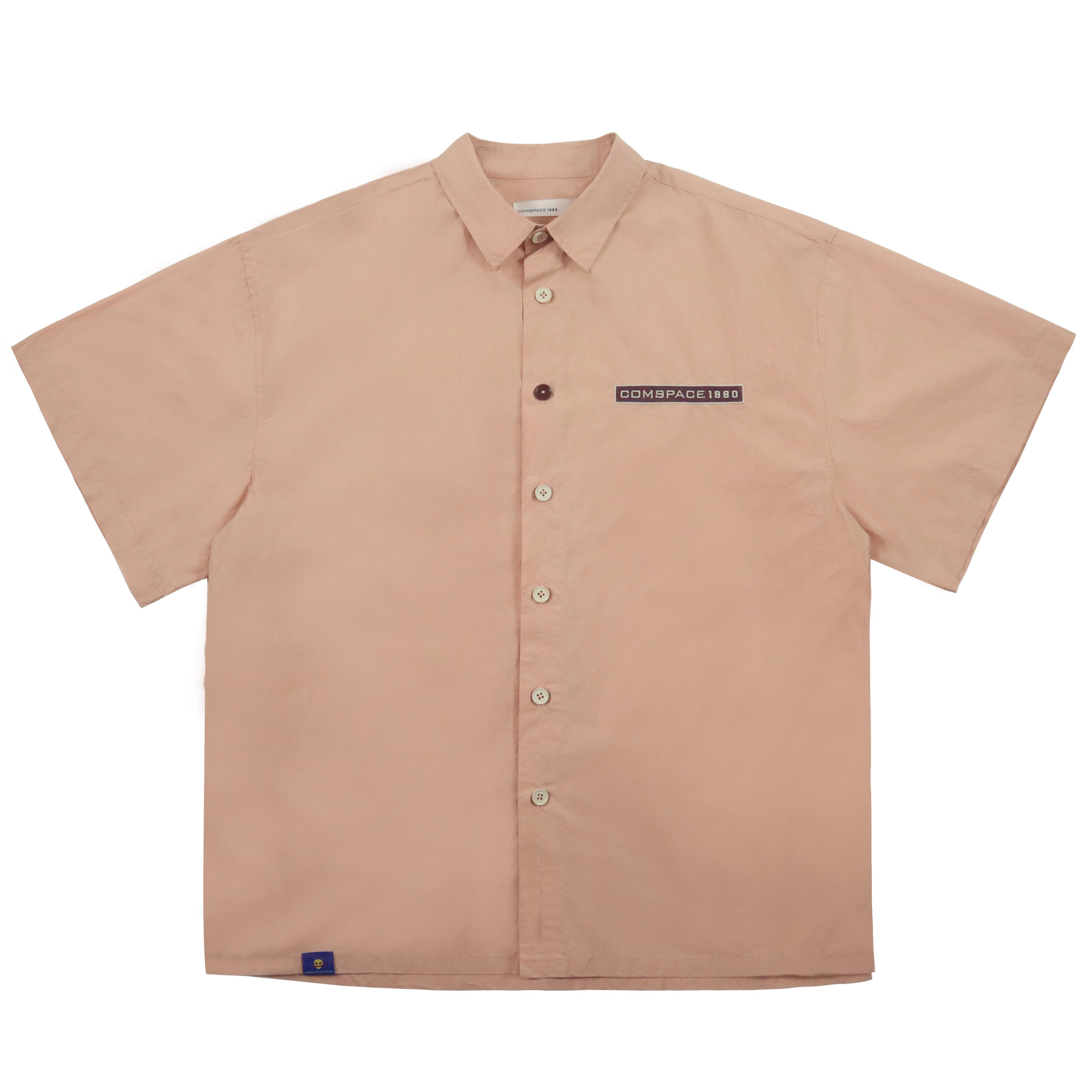 네임택 오버핏 셔츠 핑크