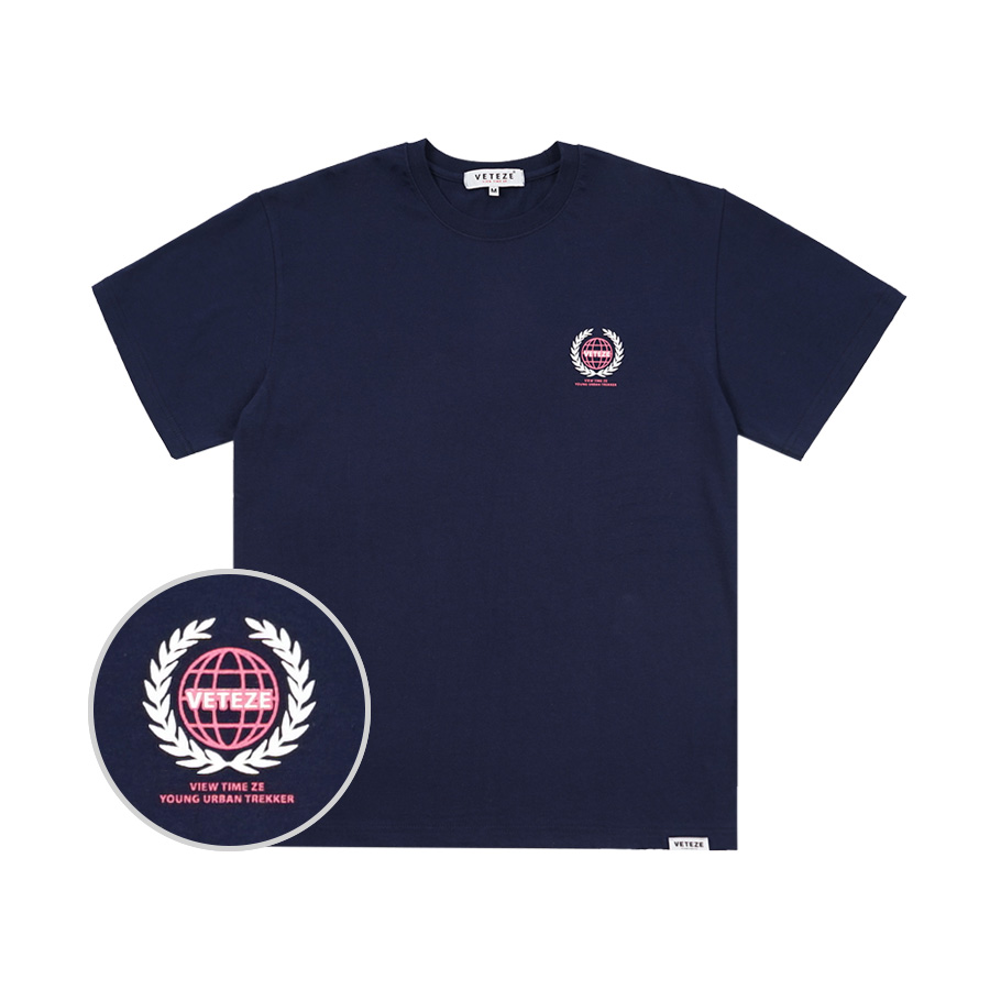 Earth Logo Campaign T-Shirt (navy)