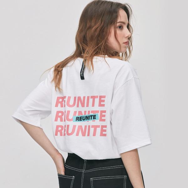 [UNISEX] 리유나이트 반팔티 (화이트)