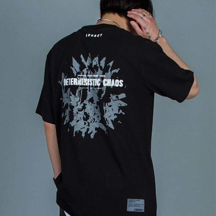 CHAOS OVERFIT TEE - BLACK