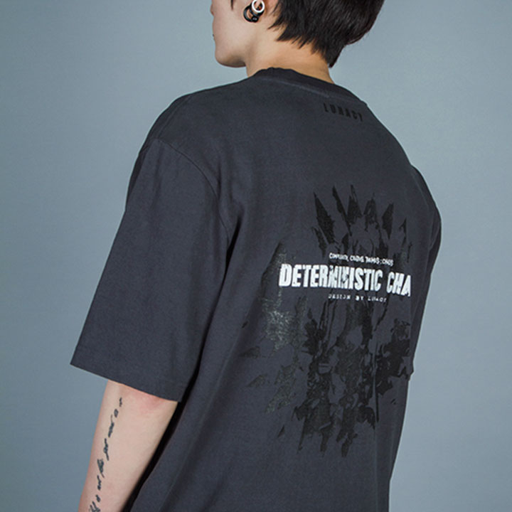 CHAOS OVERFIT TEE - CHARCOAL