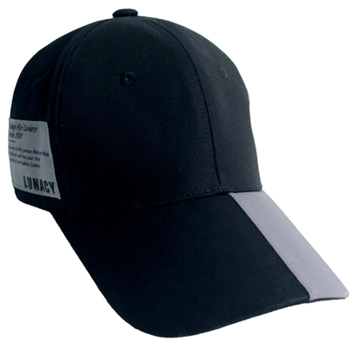 GRAY POINT LABEL BALL CAP - BLACK