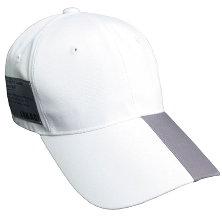 GRAY POINT LABEL BALL CAP - WHITE