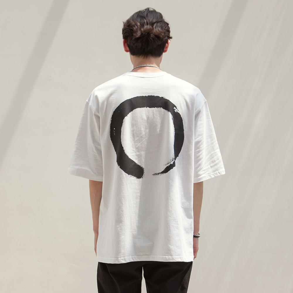 반원 서클 로고 티셔츠 VT-17_WH