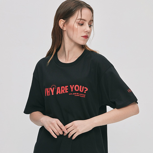 [UNISEX] why are you 반팔티 (블랙)