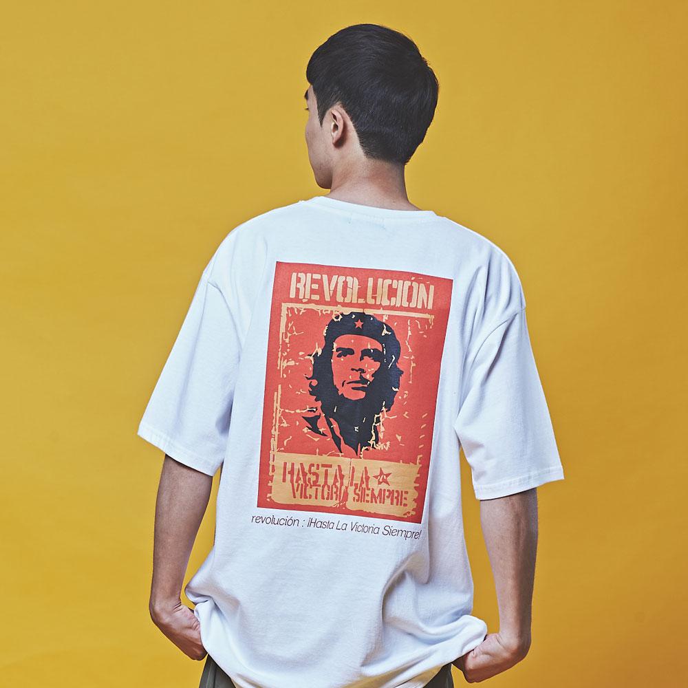 체게바라 오버핏 반팔 티셔츠 화이트