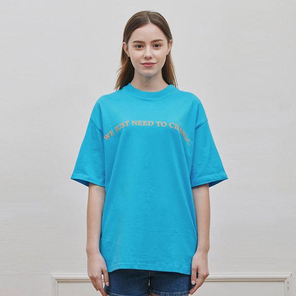 ROUND T-SHIRT BLUE