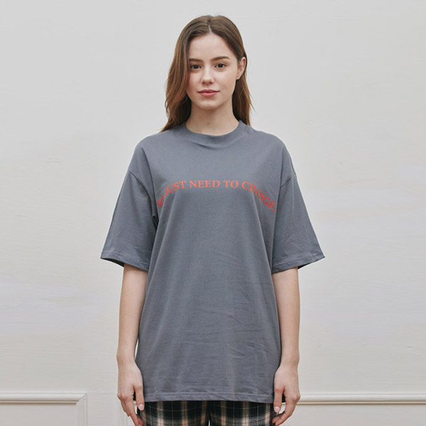 ROUND T-SHIRT CHARCOAL