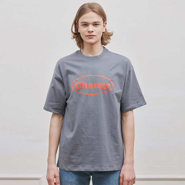 OVAL T-SHIRT CHARCOAL