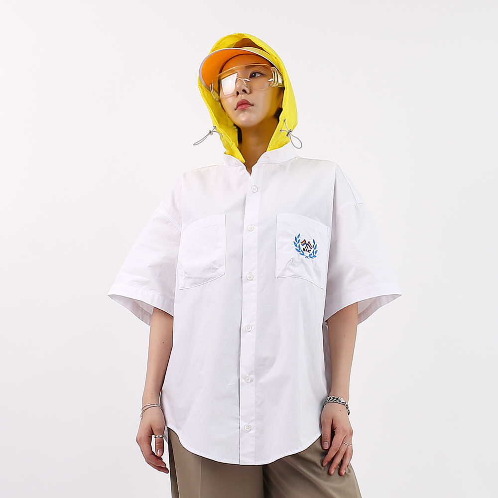 [단독시즌오프]HOODED OVER SHIRTS WHITE